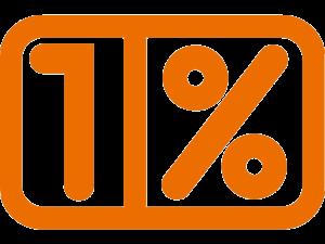1% podatku - grafika pomarańczowa